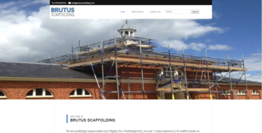 Microsites team deploy Brutus Scaffolding website.